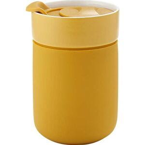 Žlutý cestovní termohrnek Ladelle Eco,300ml
