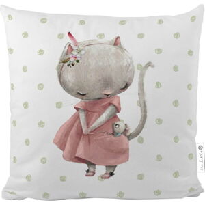 Bavlněný dětský polštář Mr. Little Fox Mouse, 45 x 45 cm