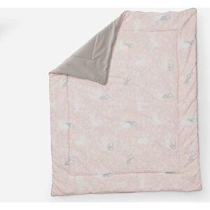 Růžová dětská peřinka Pinio Bunnies, 100 x 80 cm