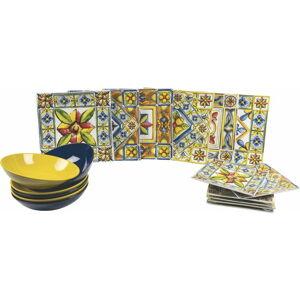 18dílná porcelánová sada talířů Villa d'Este Costiera