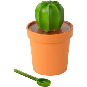 Oranžovo-zelená dóza Qualy&CO Cacnister