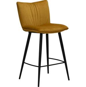Žlutá sametová barová židle DAN-FORM Denmark Join