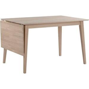 Matně lakovaný sklápěcí dubový jídelní stůl Rowico Mimi, délka 120-165cm