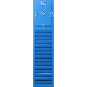 Modré nástěnné hodiny Kare Deign Santorini