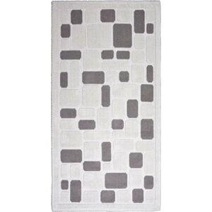 Béžový bavlněný koberec Vitaus Mozaik, 100x150cm