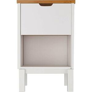 Bílo-hnědý noční stolek Støraa Post Nako