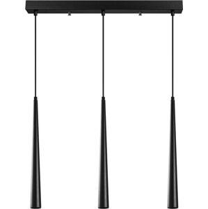 Černé závěsné svítidlo pro 3 žárovky Opviq lights Uğur