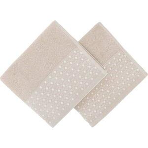 Sada 2 béžových ručníků Burumcuk, 50 x 90 cm