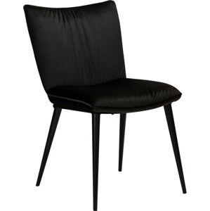 Černá jídelní židle se sametovým povrchem DAN-FORM Denmark Join