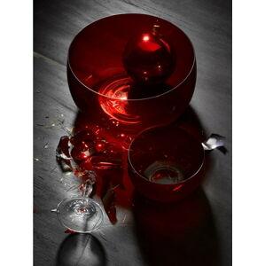 Sada 6 červených skleněných mís Crystalex Extravagance, ø 21,95 cm