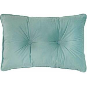 Světle zelený polštář Tiseco Home Studio Velvet Button, 40x60cm