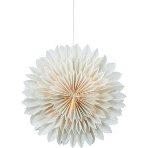 Šedá vánoční závěsná světelná dekorace Markslöjd Solina,výška45cm
