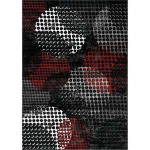 Černo-šedý koberec Webtappeti Manhattan Broadway,200x290cm