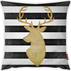 Povlak na polštář Vitaus Christmas Period Deer Stripes, 43 x 43 cm