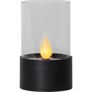 Černá LED venkovní světelná dekorace Best Season Puloun, výška 13,5 cm