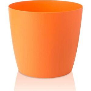 Oranžový květináč s pojízdnými kolečky Gardenico Ella Twist'n'Roll Smart System, ø29cm