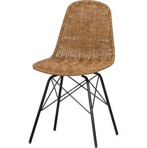 Sada 2 ratanových zahradních židlí BePureHome Natural