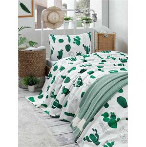 Set bavlněného lehkého přehozu přes postel, prostěradla a povlaku na polštář Missmo Larissa, 160 x 235 cm