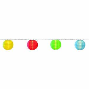 Svítící LED řetěz s lampióny vhodný do exteriéru Best Season Festival, 10 světýlek