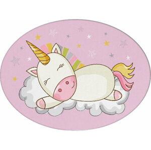 Dětský polštářek s příměsí bavlny Apolena Pillow Toy Unicorn, 35 x 24 cm