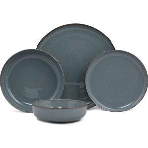 24dílná sada tmavě modrého porcelánového nádobí Kütahya Porselen Basis