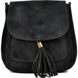 Černá kožená kabelka Anna Luchini Ben