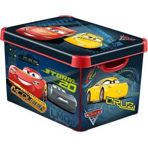 Dětský úložný box s víkem CURVER Cars,22l