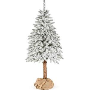Umělý vánoční stromeček DecoKing Cecilia white on a stump, 1 m