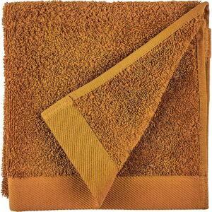 Oranžový ručník z froté bavlny Södahl Clay, 60 x 40 cm