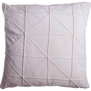 Smetanově bílý polštář JAHU Amy, 45 x 45 cm