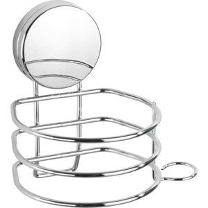Nástěnný držák na fén ve stříbrné barvě Wenko Static-Loc® Osimo