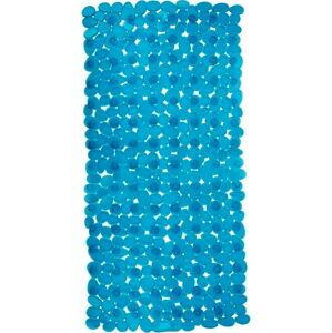Petrolejově modrá protiskluzová koupelnová podložka Wenko Drop, 71x36cm