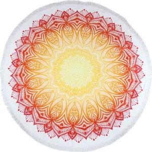 Kruhová plážová bavlněná osuška ATMOSPHERE Silva, ⌀ 160 cm