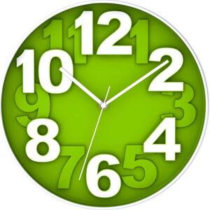 Zelené nástěnné hodiny Postershop Eve,ø30cm