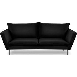 Černá sametová pohovka Mazzini Sofas Acacia, délka 225 cm