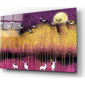 Skleněný obraz Insigne Birds and Deers,72 x46cm