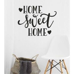 Černá nástěnná samolepka North Carolina Scandinavian Home Decors Motto V36