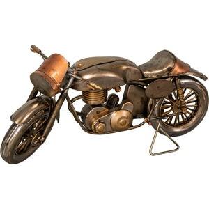 Železná dekorace ve tvaru motorky Antic Line Moto,29x11cm