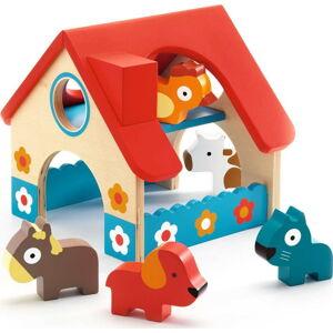 Dřevěný set farmy a 5 zvířátek Djeco Farmhouse