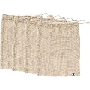 Sada 4 svačinových sáčků z recyklované bavlny Ladelle Eco,30x40cm