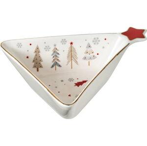 Porcelánová mísa s vánočním motivem Brandani Fiocco, délka 15 cm
