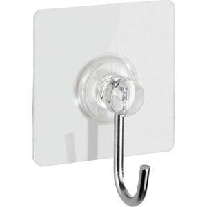 Sada 4 transparentních nástěnných háčků Wenko Static-Loc® Square