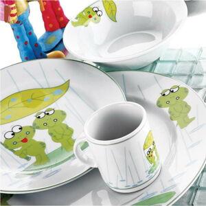 5dílný dětský porcelánový jídelní set Kütahya Porselen Frogs
