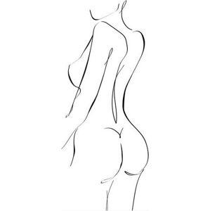 Černobílý plakát WOOOD Female, 50 x 70 cm