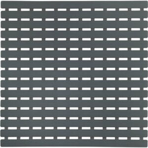 Tmavě šedá podložka do sprchového koutu Wenko Arinos, 54x54cm