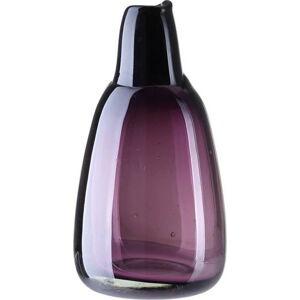 Fialová skleněná váza A Simple Mess, výška21 cm