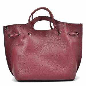 Vínová kožená kabelka Magnotti Bags