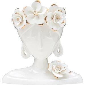 Bílá porcelánová váza Mauro Ferretti Young Woman
