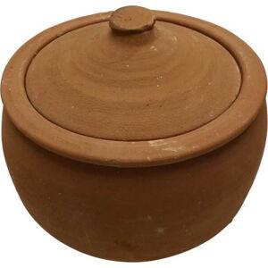Servírovací hrnec z pálené hlíny Tasev Ispir, objem 4 l