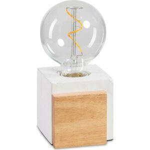 Stolní lampa z betonu a dřeva ETH Cube